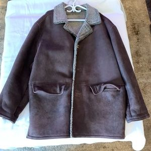 BOSS Leather and Shearling Men's Coat (L-XL)